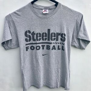 Vintage Nike Pittsburgh Steelers T Shirt Sz M Gray